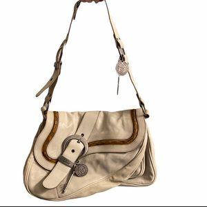 Christian Dior leather double saddle gaucho bag